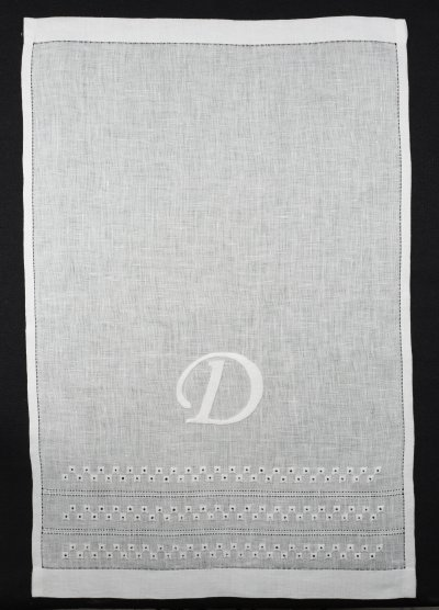 A Monogrammed Hand Towel For Dee
